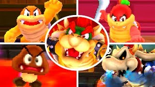 Super Mario 3D Land - All Bosses (No Damage)