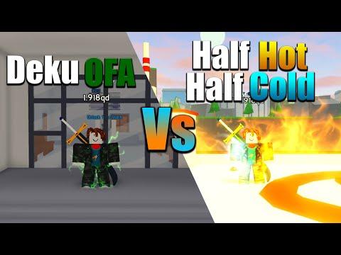 BEST QUIRK?? HALF HOT HALF COLD VS DEKU OFA - Roblox Anime Fighting Simulator