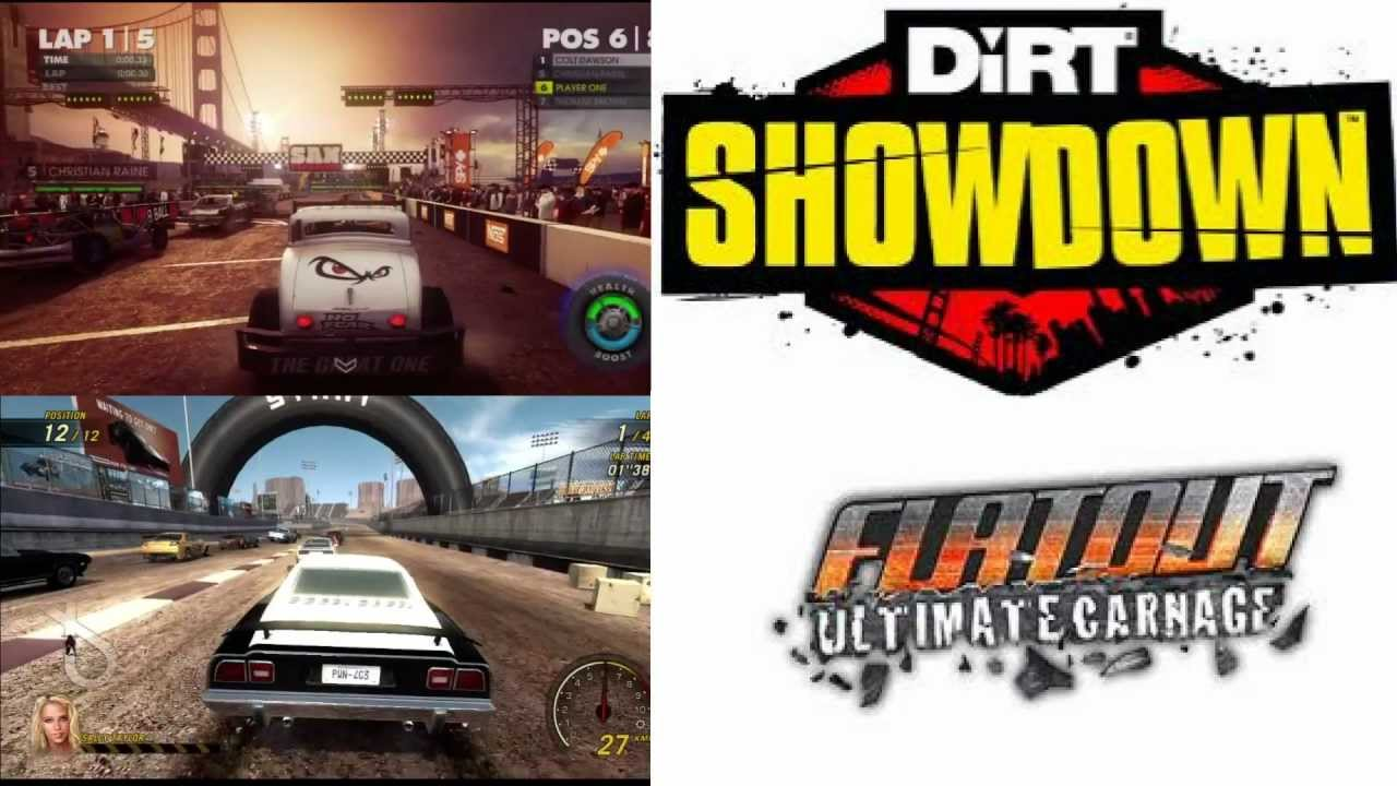 flatout uc vs dirt showdown gameplay hd pvr youtube. Black Bedroom Furniture Sets. Home Design Ideas