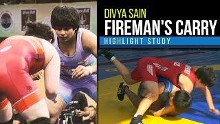 BJJ Scout: Divya Sain Fireman's Carry Highlight/Study