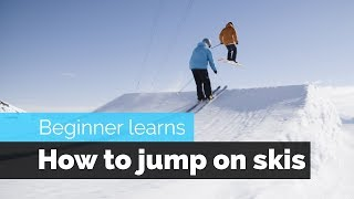 HOW TO JUMP ON SKIS | A BEGINNER SKIERS PROGRESSION