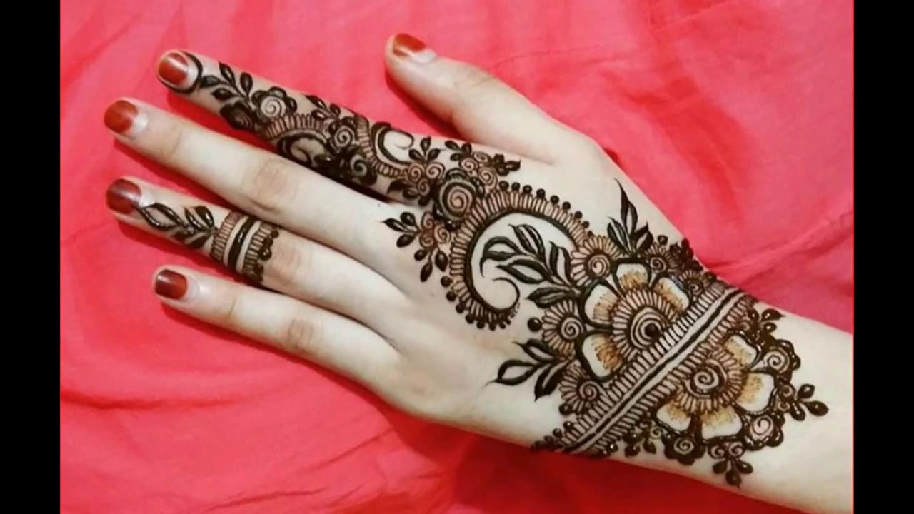 beautiful back side mehndi design