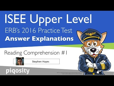 Answers and Explanations for the ERB's Official Practice