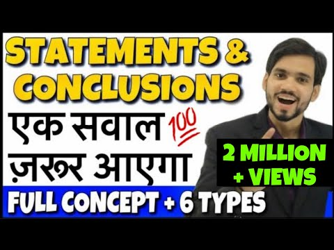 Best Statement and Conclusion Reasoning Tricks | DSSSB, RRB Group D, Bank PO, KVS, CTET