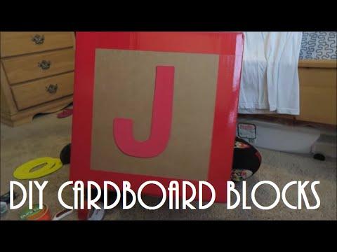 TOY STORY BIRTHDAY PARTY SERIES   DIY CARDBOARD BLOCKS