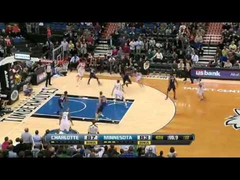 Charlotte Bobcats Minnesota Timberwolves Highlights November 14 2012 - Kemba Walker Winning Shot