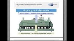 "Webinar ""Die nichtpräferenziellen Ursprungsregeln"" (4. September 2019)"