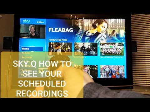 SKY Q How To See Your Scheduled Recordings