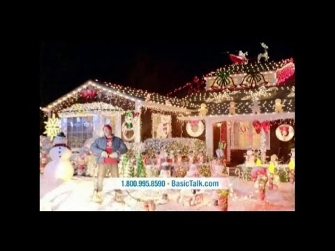 tv commercial spot basic talk holidays light up your house this christmas save money