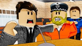 The Trial of The Worst Cop in Roblox! A Roblox Movie
