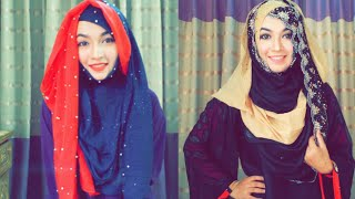 Eid special Hijab Style with two hijab covering chest and back | Pari ZaaD