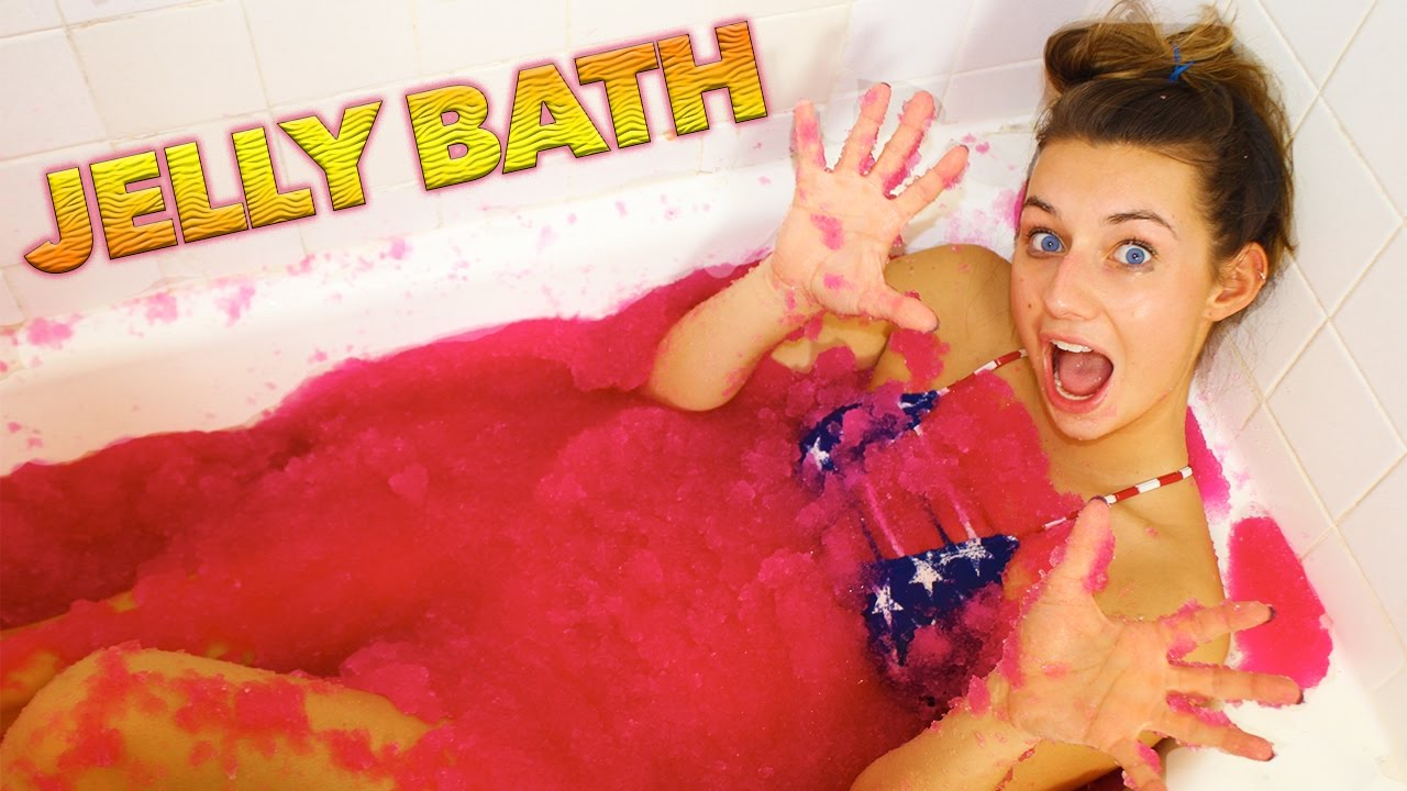 Jelly Bath Challenge (gelli Baff)  Youtube
