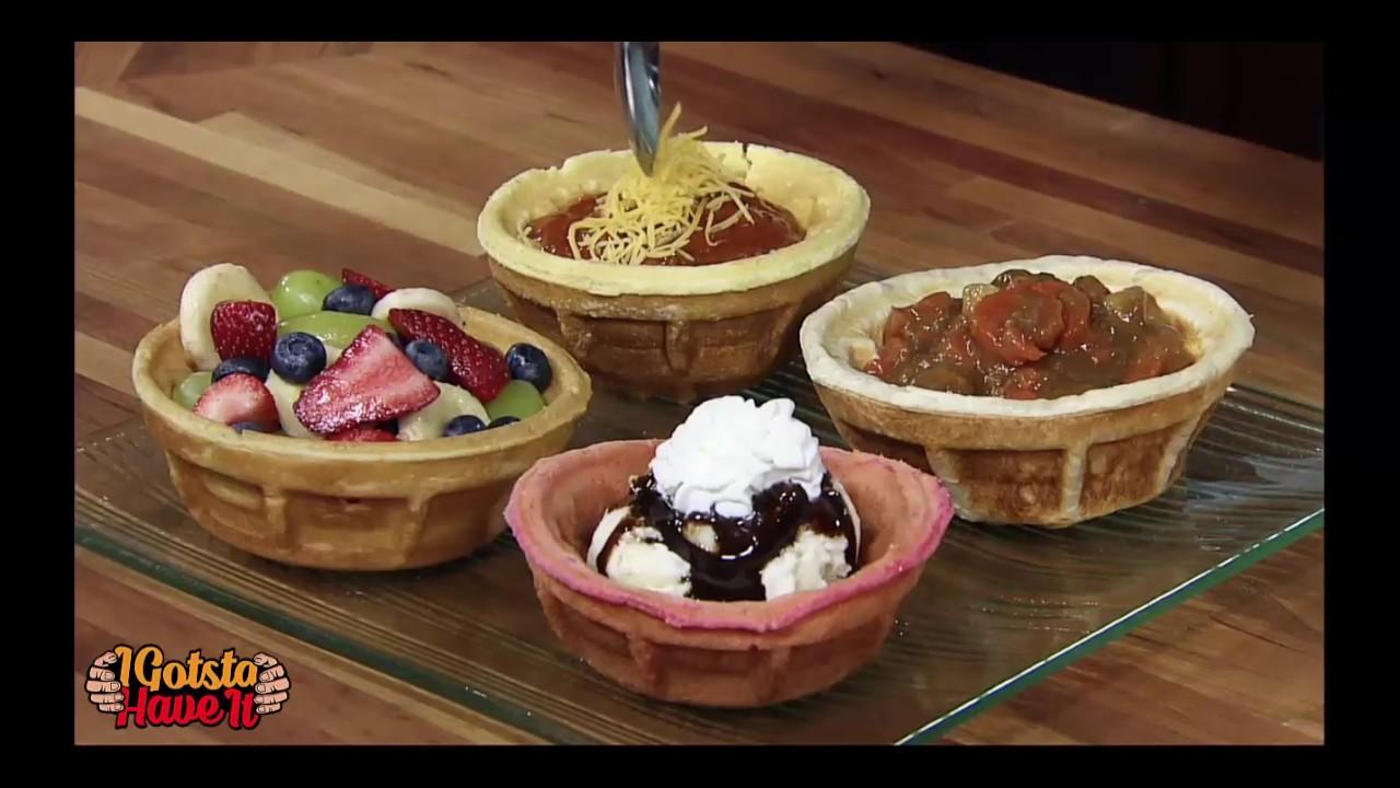 Belgian Waffle Bowl Maker Chicken Waffles Youtube