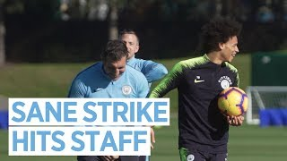 SANE FREE KICK TAKES OUT STAFF | Sun Drenched Training