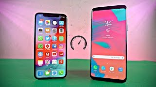 iPhone X iOS 12 vs Samsung Galaxy S9 Plus - Speed Test!