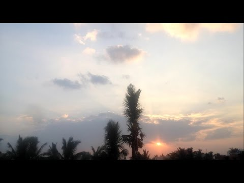 Timelapse - Early Morning Sunrise in chennai India