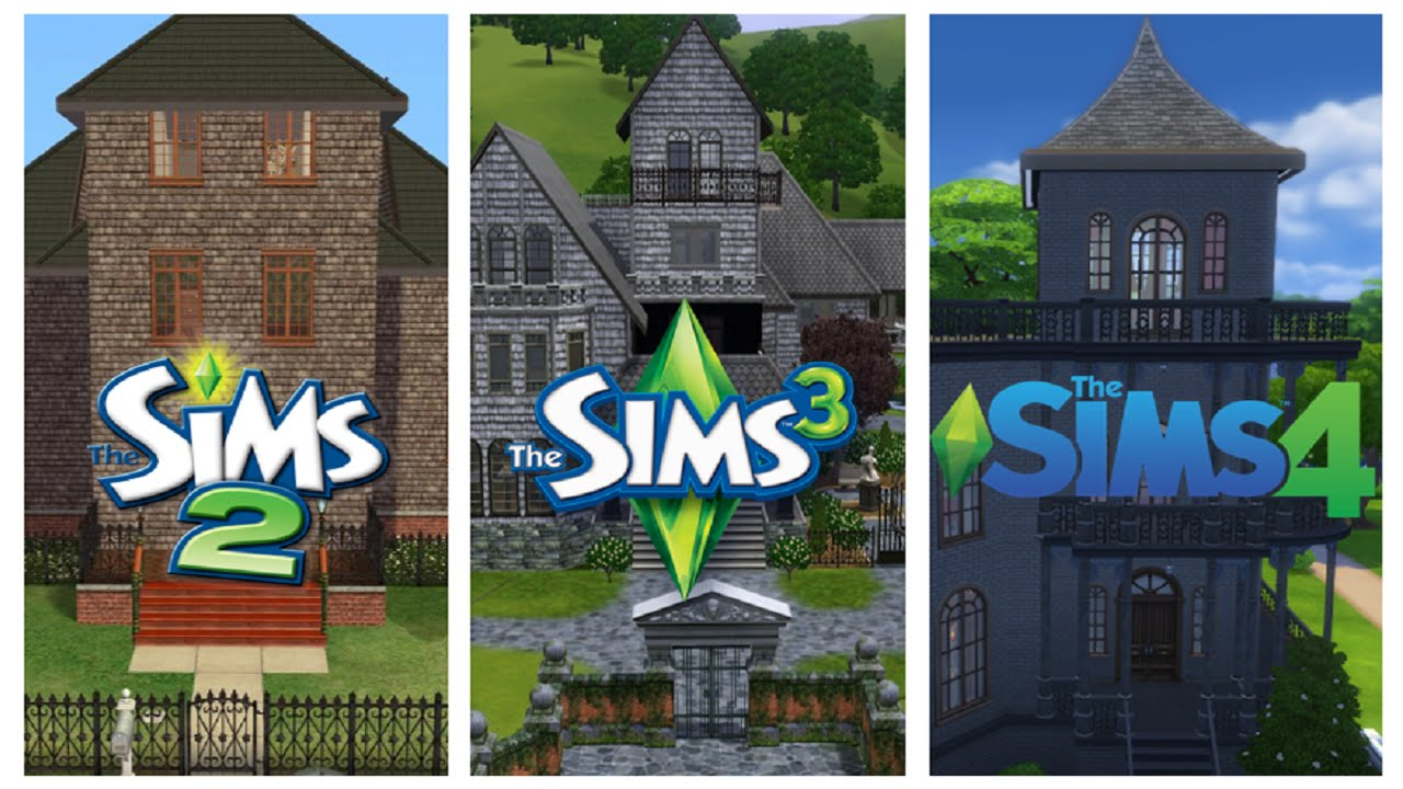 Sims 2 vs sims 3 vs sims 4 houses youtube for Minimalist house sims 2