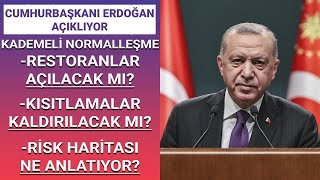 Kısıtlamalar kalkıyor mu? Cumhurbaşkanı Erdoğan #CANLI yayında açıklamalarda bulunacak
