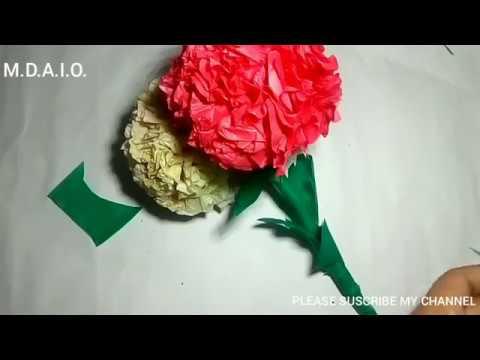 How to make round tissue paper flower  DIY paper crafts