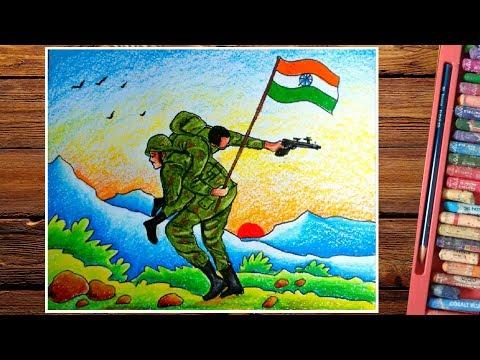 Kargil War Drawing How To Draw Indian Army Step By Step Youtube