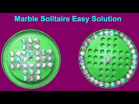 How To Solve A Marble Solitaire Marbles Game  Easy Solution || Brainvita