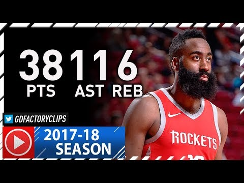 James Harden Full Highlights vs Raptors (2017.11.14) - 38 Pts, 11 Ast, 6 Reb, Foul Trouble!