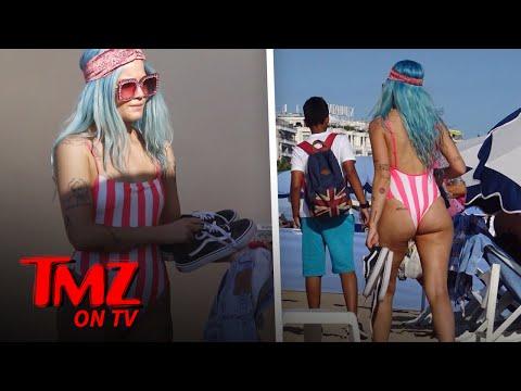 Halsey Has A Booty Tattoo?   TMZ TV