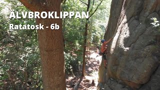 Älvbroklippan - Ratatosk 6b Onsight | Climbing Gothenburg