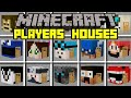 Minecraft PLAYER HOUSES MOD! | BUILD AND LIVE INSIDE GIANT PLAYER HOUSES! | Modded Mini-Game