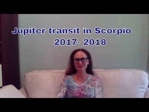 Jupiter Transit in Scorpio October 2017 November 2018