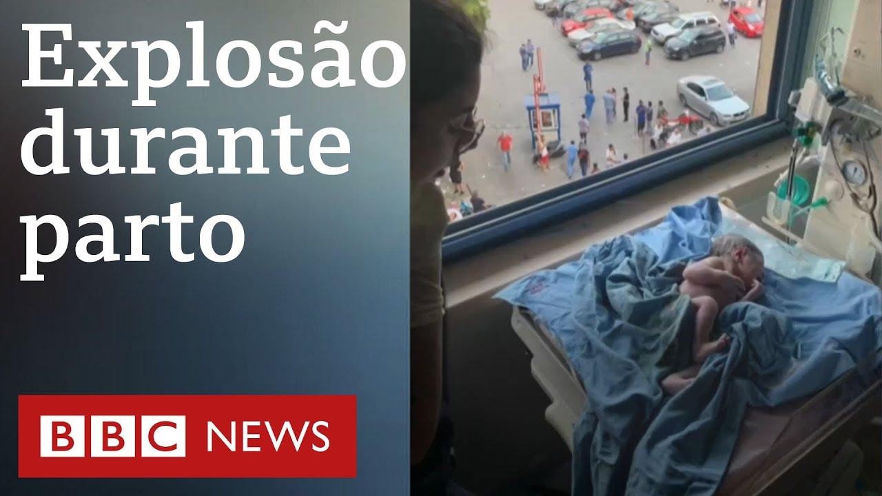 Megaexplosão interrompe parto em hospital de Beirute