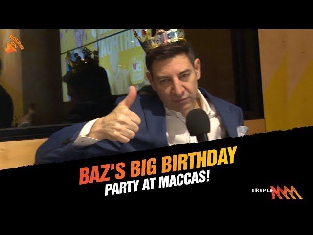 Basil's Big 50th Bash At Maccas!   Basil, Xav And Jenna   Triple M