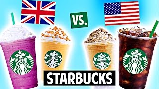 AMERICAN vs. BRITISH Starbucks Drinks