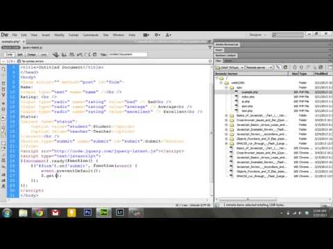 Learning Javascript - 7. JSON and AJAX with jQuery