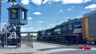 Mad River & NKP Kemper Rail Park, Bellevue Ohio, Norfolk Southern Mixed Freights!