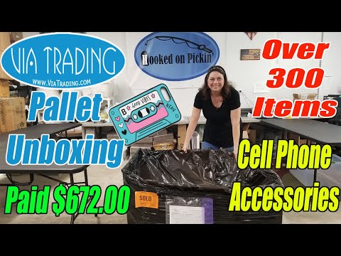 Via Trading Pallet Unboxing New products I have never seen!