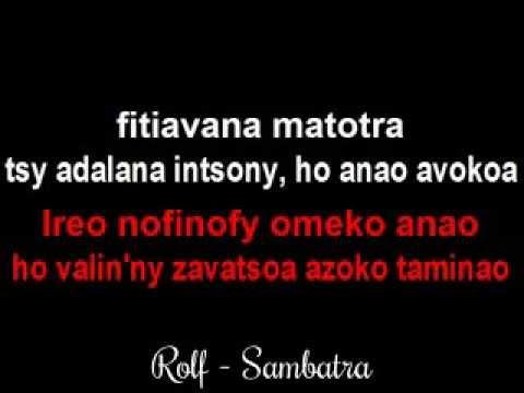 Rolf - Sambatra (Karaoke)