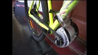 Build a powerful Electric Bicycle at home(BLDC 750W MOTOR)  Bycycle hacks || bycycle tricks || cycle