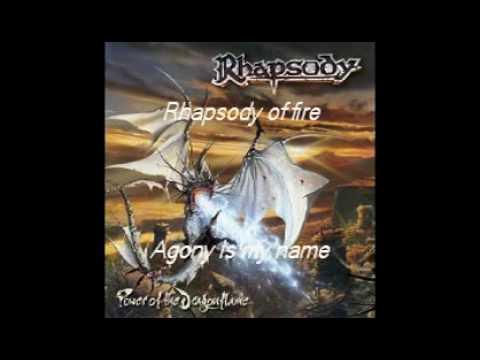 Rhapsody of Fire Agony Is My Name with lyrics