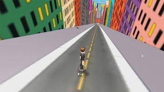 ROBLOX: DESCENDO A RAMPA GIGANTE DE SKATE!! (Skating in the city)
