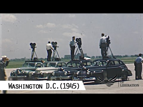 Washington D.C. On The Victory In Europe Day (V-E Day, 8th Of May 1945)
