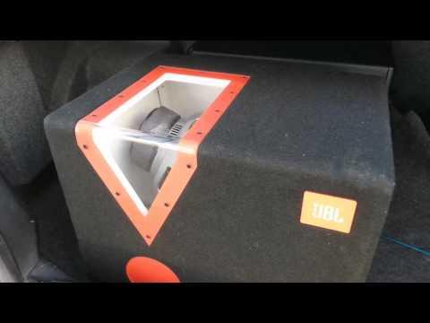 Schwarz//Orange 300mm Auto-Stereoanlage Bandpass Subwoofer mit Acryl-Fenster JBL Car CSX-1400BP 12 Zoll