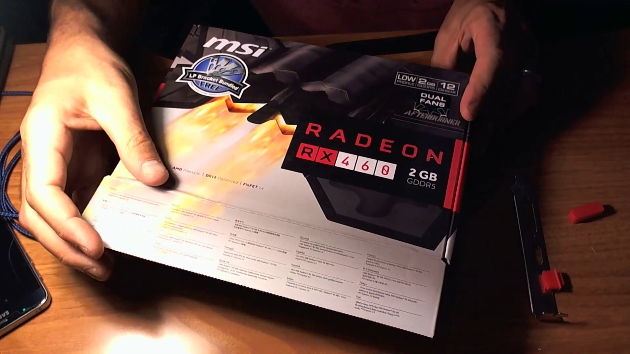 AMD MSI RX 460 Low Profile GPU unboxing info and slight manufacturing  problem