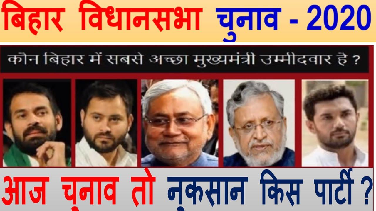 बिहार चुनाव -2020 किसकी जीत ? आज चुनाव तो नुकसान किस ...