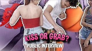 KISS OR GRAB 😘🍑 | PUBLIC INTERVIEW (SPRING BREAK EDITION 🌴)