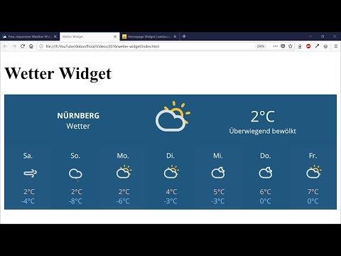 Wetter-Anzeige (Weather-Widget) in Website integrieren – Webdesign-Tutorial