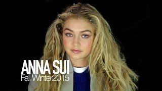 Anna Sui Fall 2015 - GIGI HADID BACKSTAGE - NY Fashion Week | MODTV