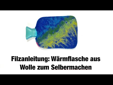 geschenkidee zum selber machen filzanleitung w rmflasche mit weicher filzwolle umwickelt youtube. Black Bedroom Furniture Sets. Home Design Ideas