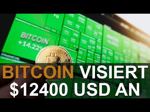 BITCOIN VISIERT $12400 USD AN