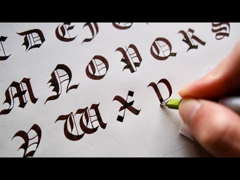 Calligraphy Gothic Capital Letter With Parallel Pen パラレルペンでゴシック体の大文字を練習しよう
